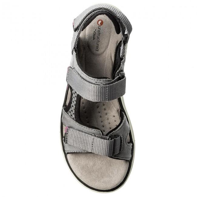 2f61fb53c80 Sandals CLARKS - Un Roam Step 261332664 Grey Nubuck - Casual sandals -  Sandals - Mules and sandals - Women s shoes - www.efootwear.eu