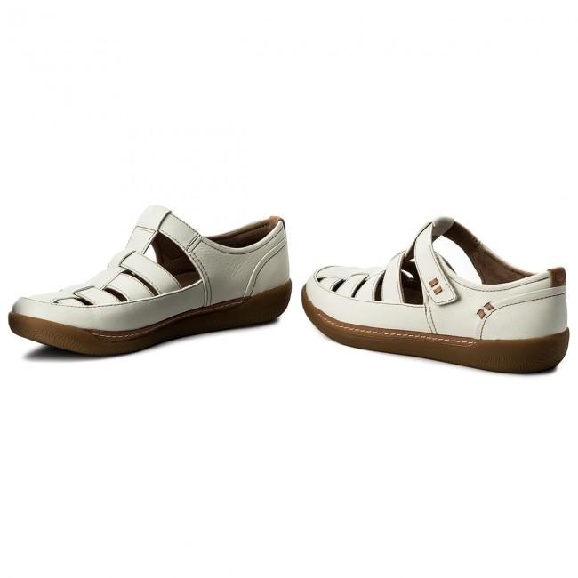 2567899b01c Sandals CLARKS - Un Haven Cove 261332824 White Leather - Casual ...