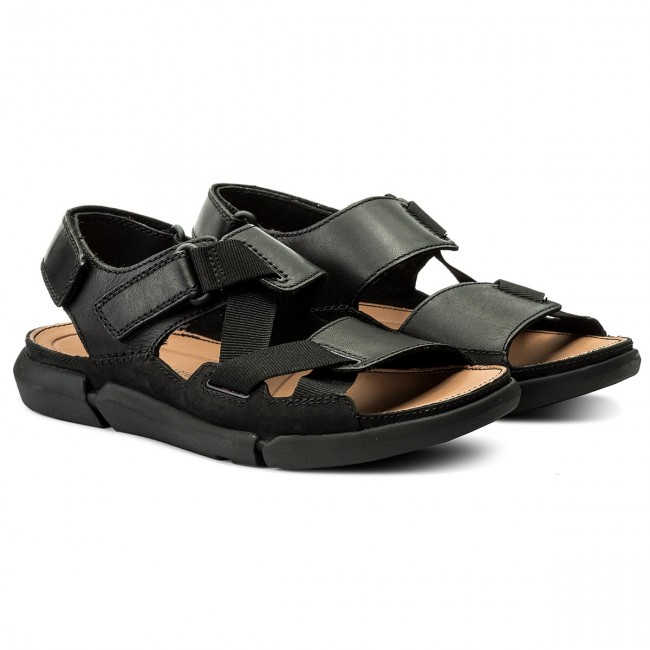 Escalofriante No lo hagas cobertura  Sandals CLARKS - Trisand Sun 261332927 Black - Sandals - Mules and sandals  - Men's shoes | efootwear.eu