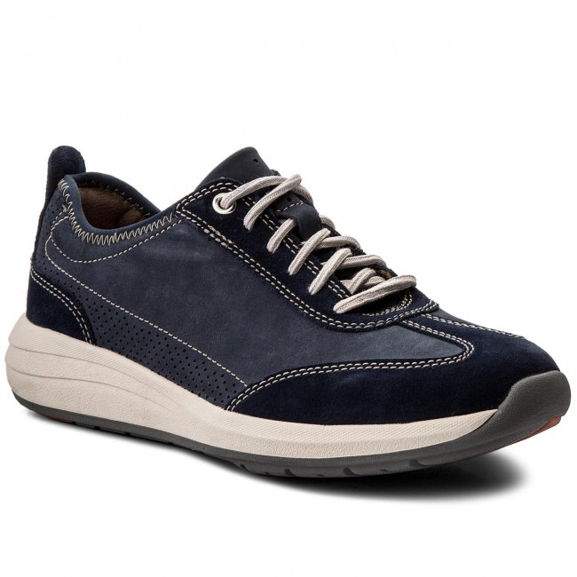 Shoes CLARKS - Un Coast Lace 261333287 Navy Nubuck 065