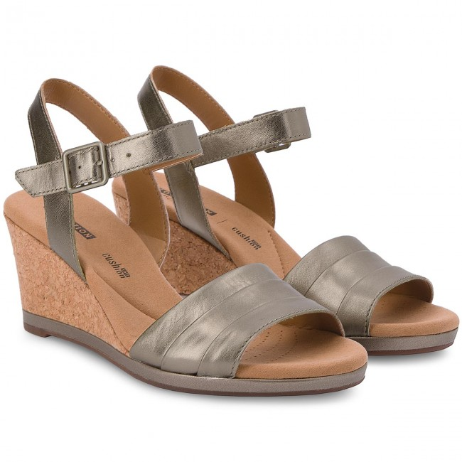 9ad0d868555 Sandals CLARKS - Lafley Aletha 261334764 Pewter Metallic - Casual sandals -  Sandals - Mules and sandals - Women s shoes - www.efootwear.eu