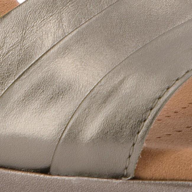 f298097dd8db Sandals CLARKS - Lafley Aletha 261334764 Pewter Metallic - Casual ...