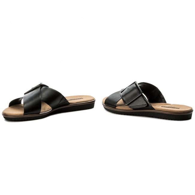 e78f8bd09c98 Slides CLARKS - Kele Heather 261335774 Black Leather - Casual mules ...