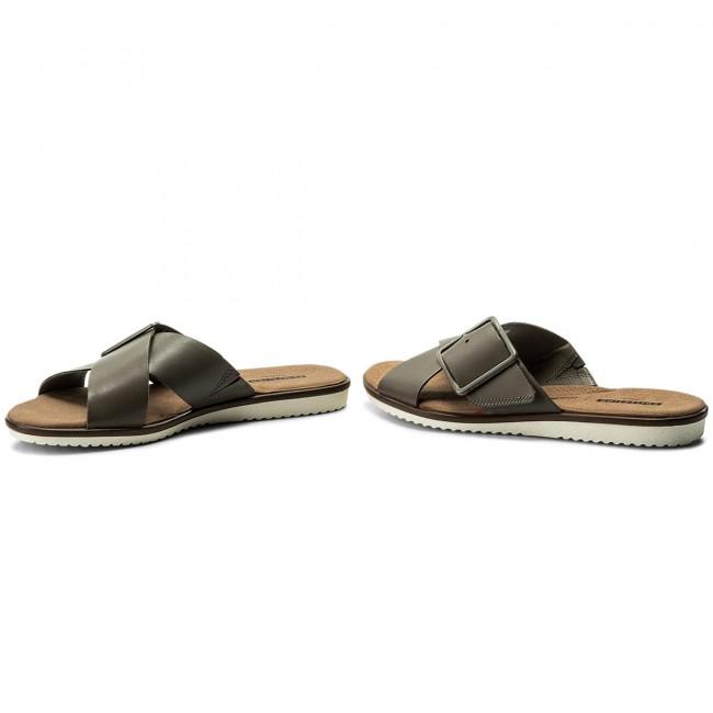 7cbd80e3f47 Slides CLARKS - Kele Heather 261335794 Sage Leather - Casual mules ...