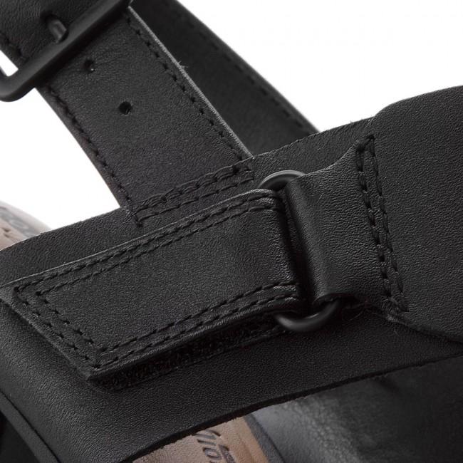 232e7816a9b Sandals CLARKS - Kurtley Shine 261335874 Black Leather - Casual ...