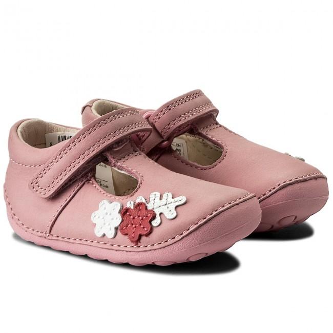 Clarks Tiny Blossom 261336326 Baby Rosa Leather Slip On