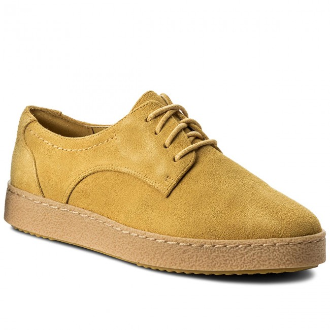f6ebc9273132 Shoes CLARKS - Lillia Lola 261337234 Yellow Suede - Flats - Low ...