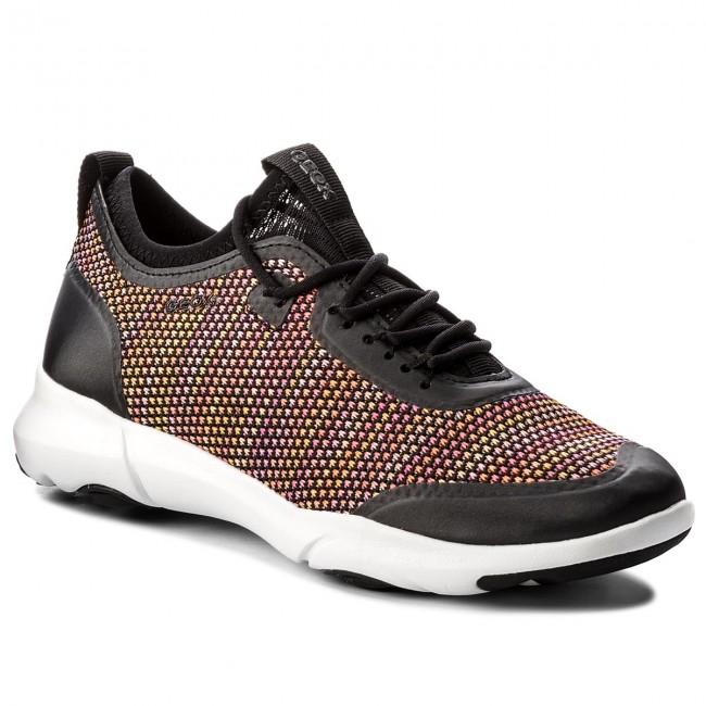 Shoes GEOX - D Nebula X A D82BHA 0006K C0038 Black Orange - Flats ... 8e5789c8f5d
