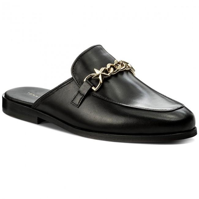 92d7ebf1c2b4 Slides TOMMY HILFIGER - Feminine Slip On Loafer Chain FW0FW02194 Black 990