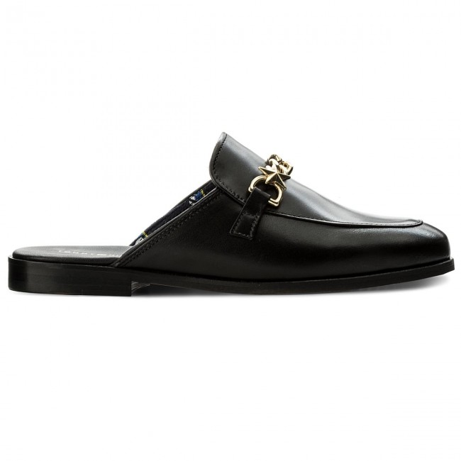 b74845eb02c4c9 Slides TOMMY HILFIGER - Feminine Slip On Loafer Chain FW0FW02194 Black 990  - Casual mules - Mules - Mules and sandals - Women s shoes -  www.efootwear.eu