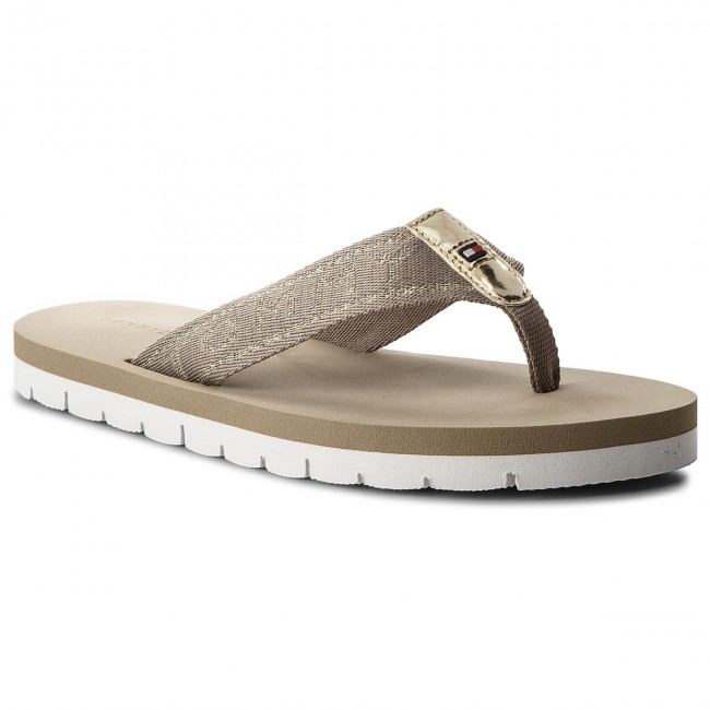 aa88ed675 Slides TOMMY HILFIGER. Flexible Essential Beach Sandal FW0FW02365  Cobblestone 068