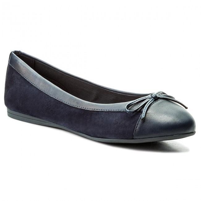 832bb98f027967 Flats TOMMY HILFIGER - Basic Kid Suede Ballerina FW0FW02541 Tommy Navy 406
