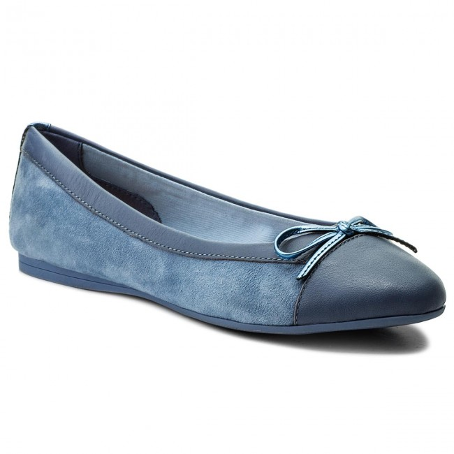 c99bec3c44f461 Flats TOMMY HILFIGER - Basic Kid Suede Ballerina FW0FW02541 English Manor  415