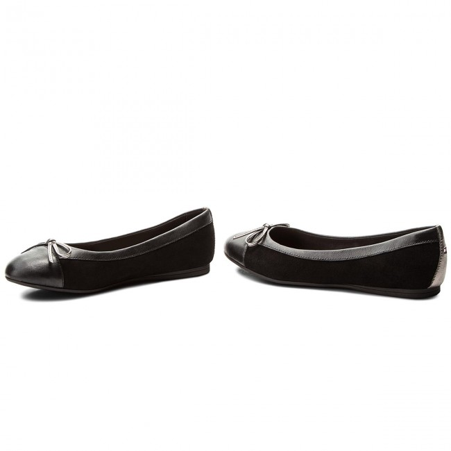 aa6da9e65a50ca Flats TOMMY HILFIGER - Basic Kid Suede Ballerina FW0FW02541 Black ...