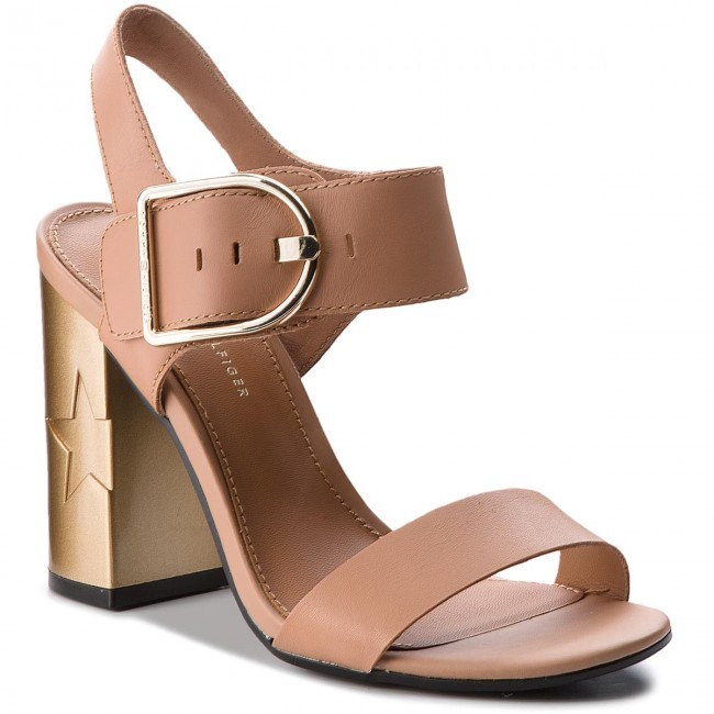 e41c4c66eb6e Sandals TOMMY HILFIGER - Feminine Heel Oversized Buckle FW0FW02578 ...