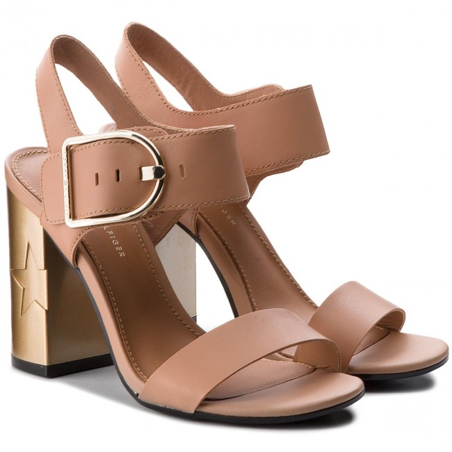 173836179bbfd9 Sandals TOMMY HILFIGER - Feminine Heel Oversized Buckle FW0FW02578 Silky  Nude 297 - Casual sandals - Sandals - Mules and sandals - Women s shoes ...