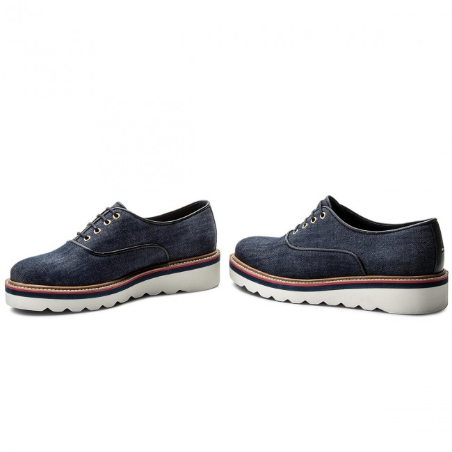 Sporty Up Hilfiger Oxfords Fw0fw02728 Tommy Lace 404 Denim thdxBCrsQ
