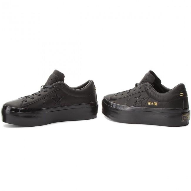 Sneakers CONVERSE - One Star Platform Ox 559898C Black Black Black 99e7eec48