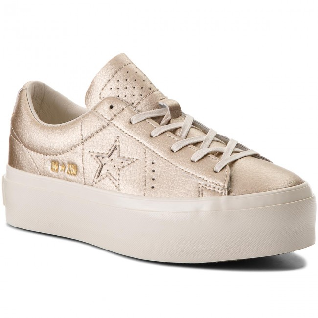 e81f0781ac9a Sneakers CONVERSE - One Star Platform Ox 559924C Light Gold Light ...