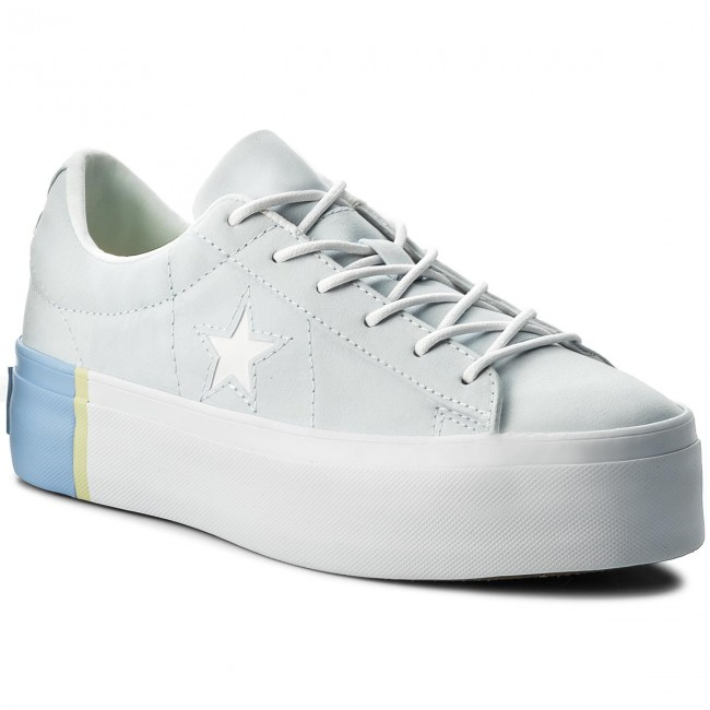 5451ac633c7f5f Sneakers CONVERSE - One Star Platform Ox 559903C Blue Tint Blue ...