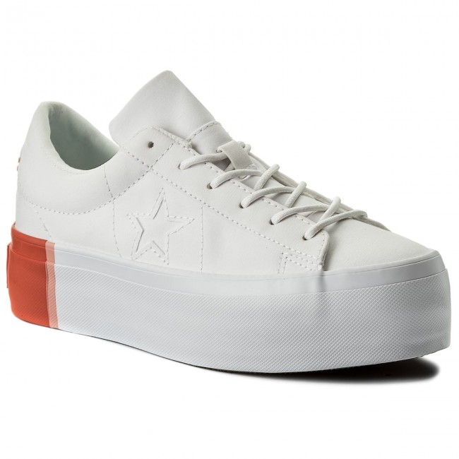 84660b00a78d Sneakers CONVERSE. One Star Platform Ox 559904C White Bright Poppy White