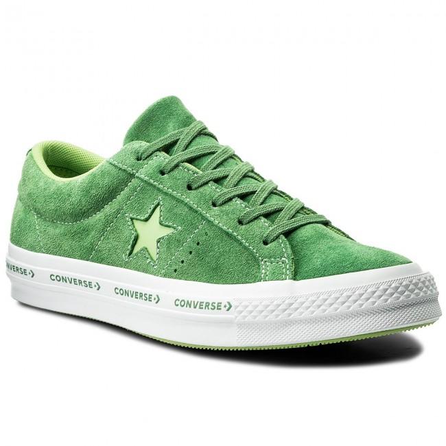 73a0c0d268c7e5 Plimsolls CONVERSE - One Star Ox 159816C Mint Green Jade Lime White ...