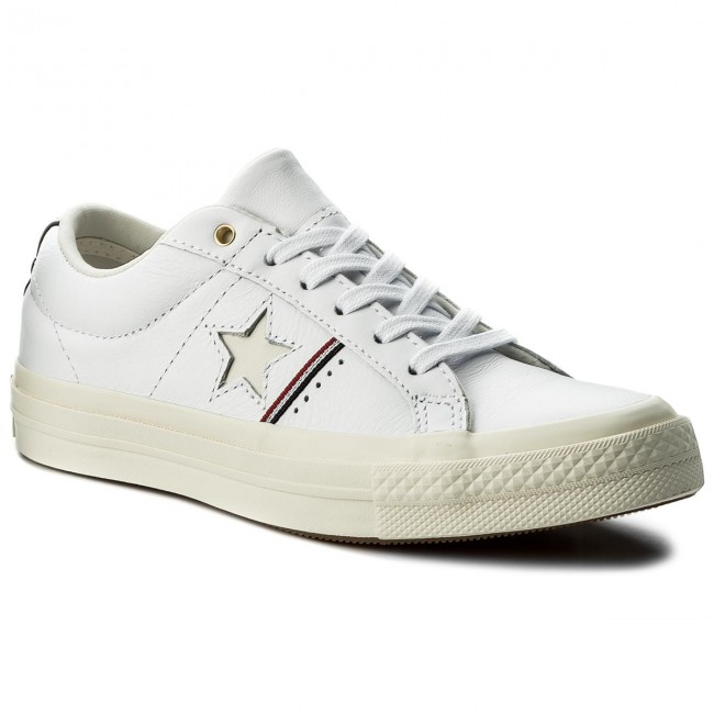 65db024465c8 Plimsolls CONVERSE - One Star Ox 159694 C White Enamel Red Egred ...