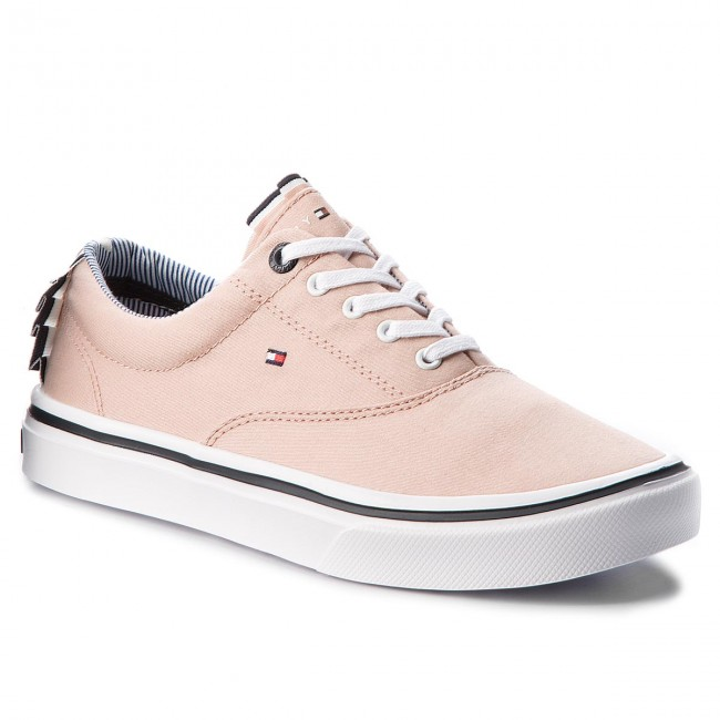 Womens Light Textile Low-Top Sneakers, Rose Cloud Tommy Jeans