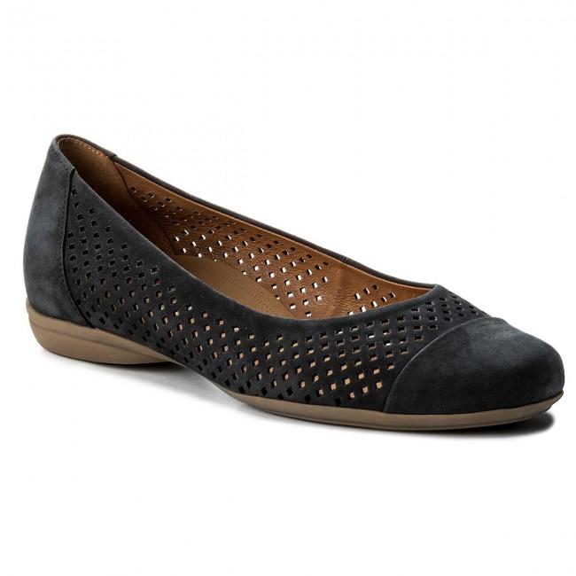 d7a896ef21d Flats GABOR - 42.027.46 Nightblue S.Natur - Ballerina shoes - Low ...