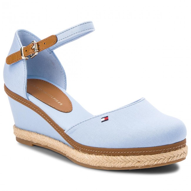 8bbf796c38 Espadrilles TOMMY HILFIGER. Iconic Elba Basic Closed Toe FW0FW02838  Chambray Blue 407