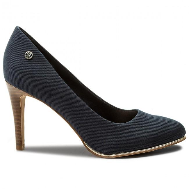 a313a49e2e47c Stilettos TOMMY HILFIGER - Basic Textile Pump Spring FW0FW02927 Midnight 403  - Stilettos - Low shoes - Women's shoes - www.efootwear.eu