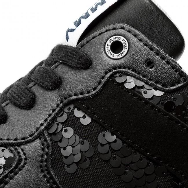 aa1db6d4f Sneakers TOMMY JEANS - Tj Wedge Sequin Sneaker FW0FW03301 Black 990 ...