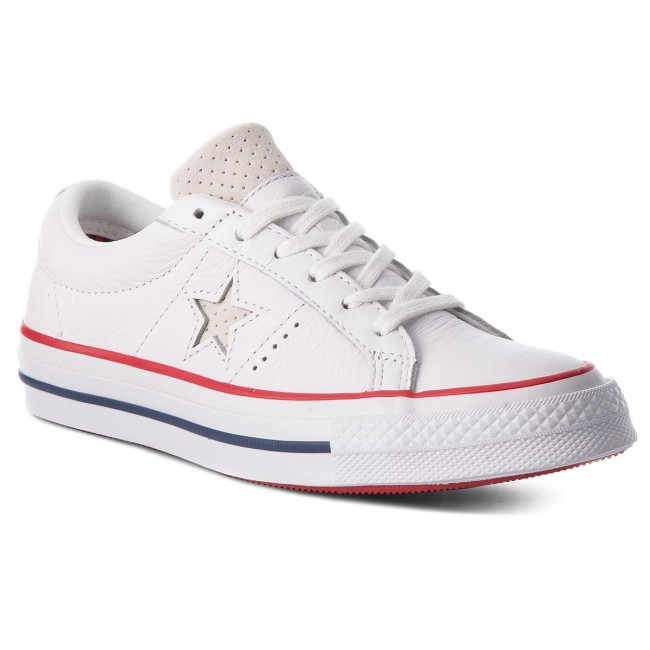 0b1e2d5d8a45 Plimsolls CONVERSE - One Star Ox 160624C White Gym Red White ...