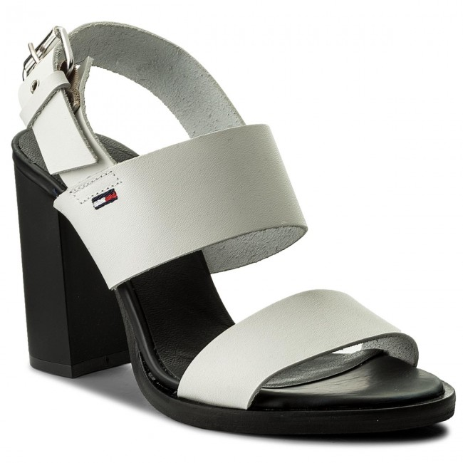 Sandalen TOMMY JEANS - Cool Leather Heeled Sandal EN0EN00215 Black 990 QCxwiUyl