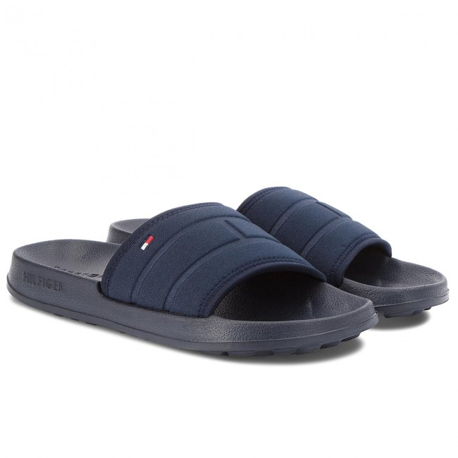 3e9af8b70ce0f0 Slides TOMMY HILFIGER - Corporate Flag Pool Slide FM0FM01557 Midnight 403 -  Clogs and mules - Mules and sandals - Men s shoes - www.efootwear.eu