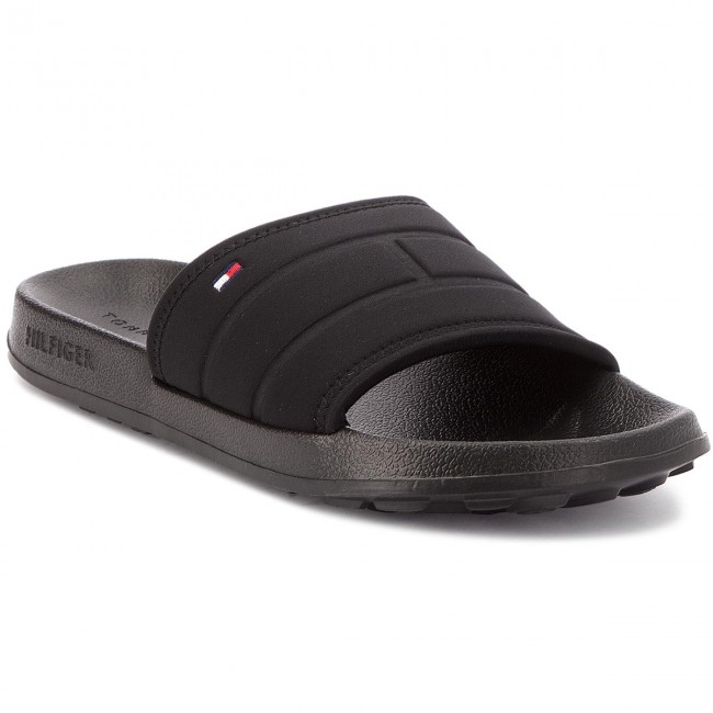 cdb45d70e Slides TOMMY HILFIGER - Corporate Flag Pool Slide FM0FM01557 Black ...