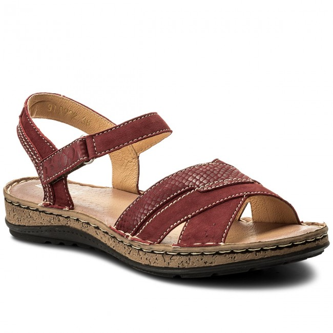 MANITU sandals Sandals 41 Casual Bordeaux Sandals 910772 0dPq77