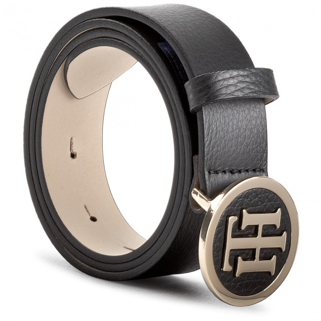 817815dfe1c17 Women s Belt TOMMY HILFIGER - Th Round Buckle Belt 3.0 AW0AW05366 75 ...