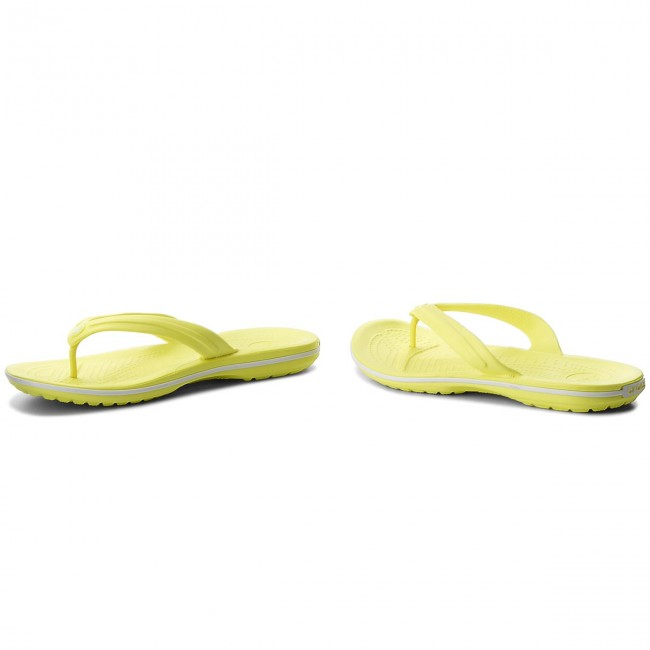 e4b71679d Slides CROCS - Crocband Flip 11033 Tennis Ball Green White - Flip ...