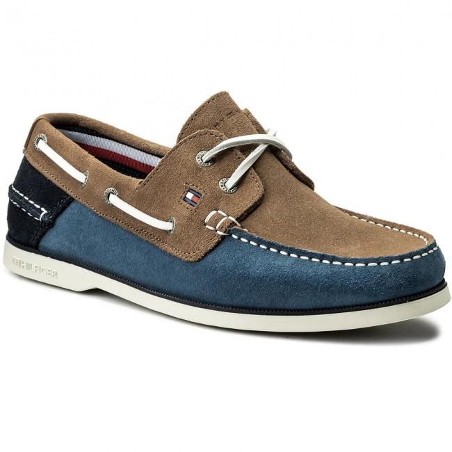 Tommy Hilfiger Jeans Boatshoe Moccasins Fm0fm00587 Classic Suede 5ddTRq