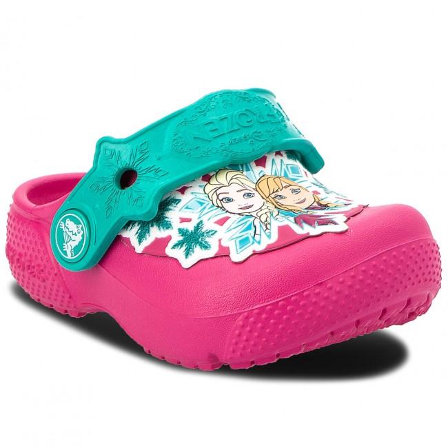 cb04871489bf Slides CROCS - Fun Lab Frozen Clog K 205013 Candy Pink - Clogs and ...