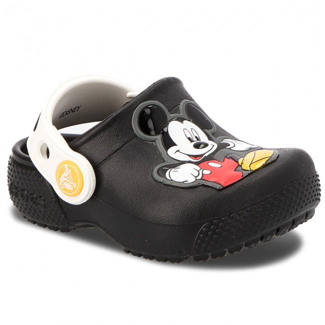 e0336f4cd Slides CROCS - Fun Lab Mickey Clog K 205113 Black - Clogs and mules ...