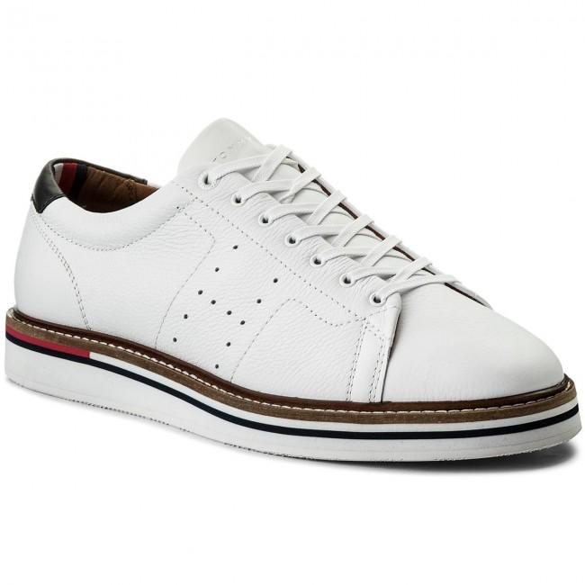 67f12c92be88 Sneakers TOMMY HILFIGER - Hybrid Leather Long Lace Shoe FM0FM01337 ...