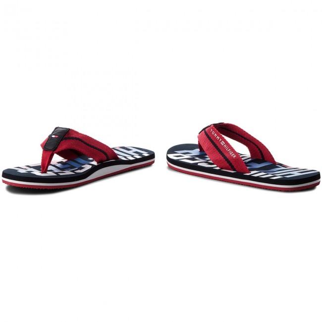 740a88f33de0ea Slides TOMMY HILFIGER - Bold Hilfiger Beach Sandal FM0FM01367 Tango Red 611