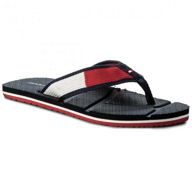 59e1a9af2 Slides TOMMY HILFIGER - Technical Flag Beach Sandal FM0FM01368 Rwb ...