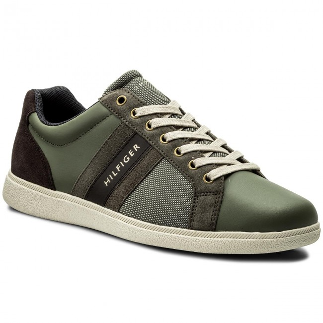 Sneakers TOMMY HILFIGER - Core Material Mix Cupsole FM0FM01479 Dusty ... 989a63b06fe