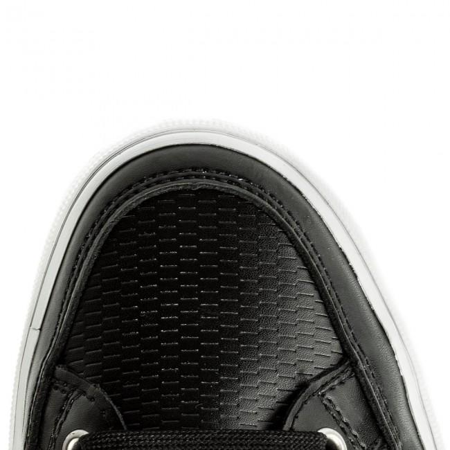 d69bf272a51d7b Sneakers TOMMY HILFIGER - Core Corporate Leather Sneaker FM0FM01497 Black  990 - Sneakers - Low shoes - Men s shoes - www.efootwear.eu