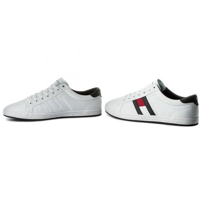 8a2e4da417 Plimsolls TOMMY HILFIGER - Essential Flag Detail Sneaker FM0FM01535 White  100