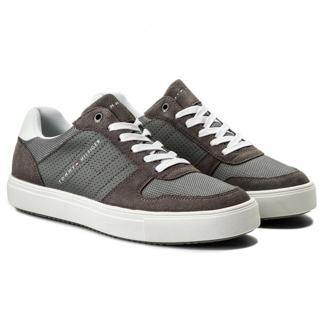 Lightweight TOMMY Sneakers Mix Grey Material Sneaker HILFIGER Steel 039 FM0FM01539 qEx77nd