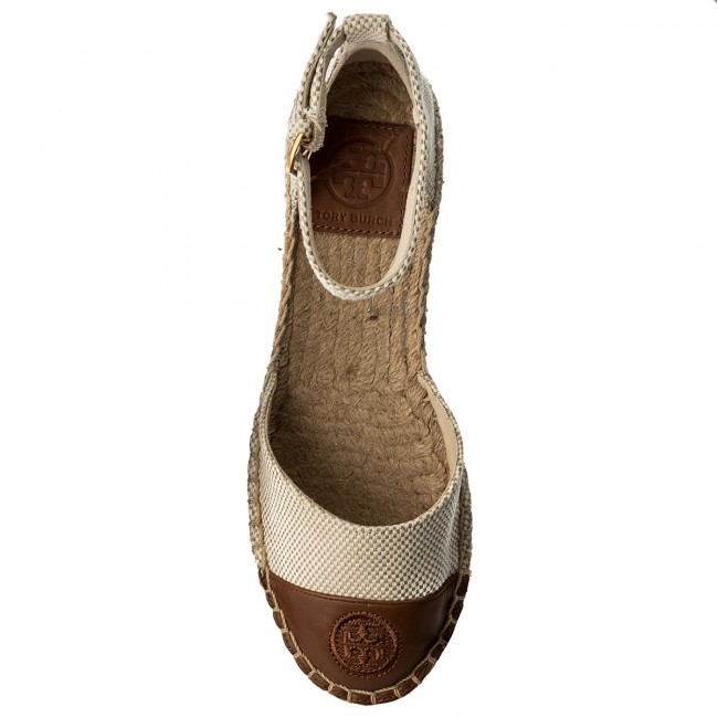 253926e657a536 Espadrilles TORY BURCH - Color Block Ankle-Strap Espadrille 47027 Perfect  Sand Perfect Cuoio 241 - Espadrilles - Mules and sandals - Women s shoes ...